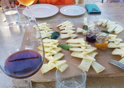 Chianti and pecorino sheep cheese