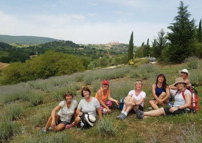 Relaxing with San Gimignano in the background