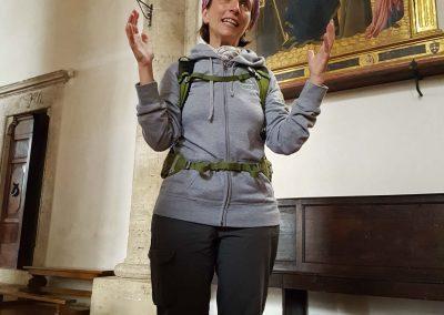 Sara explaining medieval art