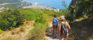 descending to the sea in amalfi coast