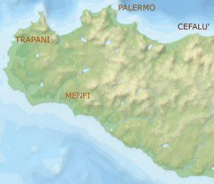 map of sicily tour