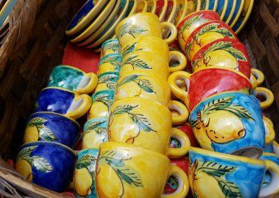 nice production of ceramics in Vietri