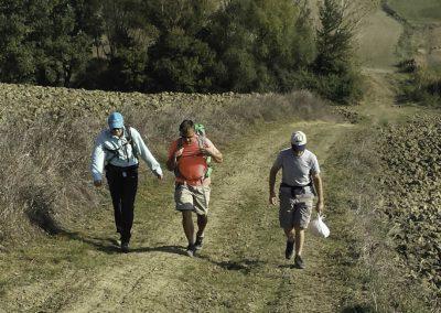 walking in Pienza