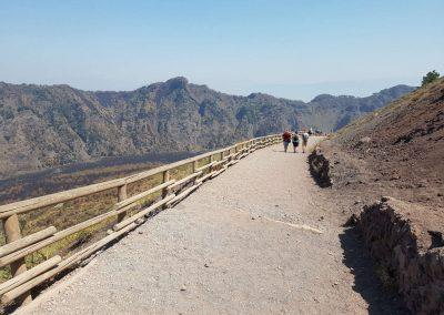 walking on the Vesuvius