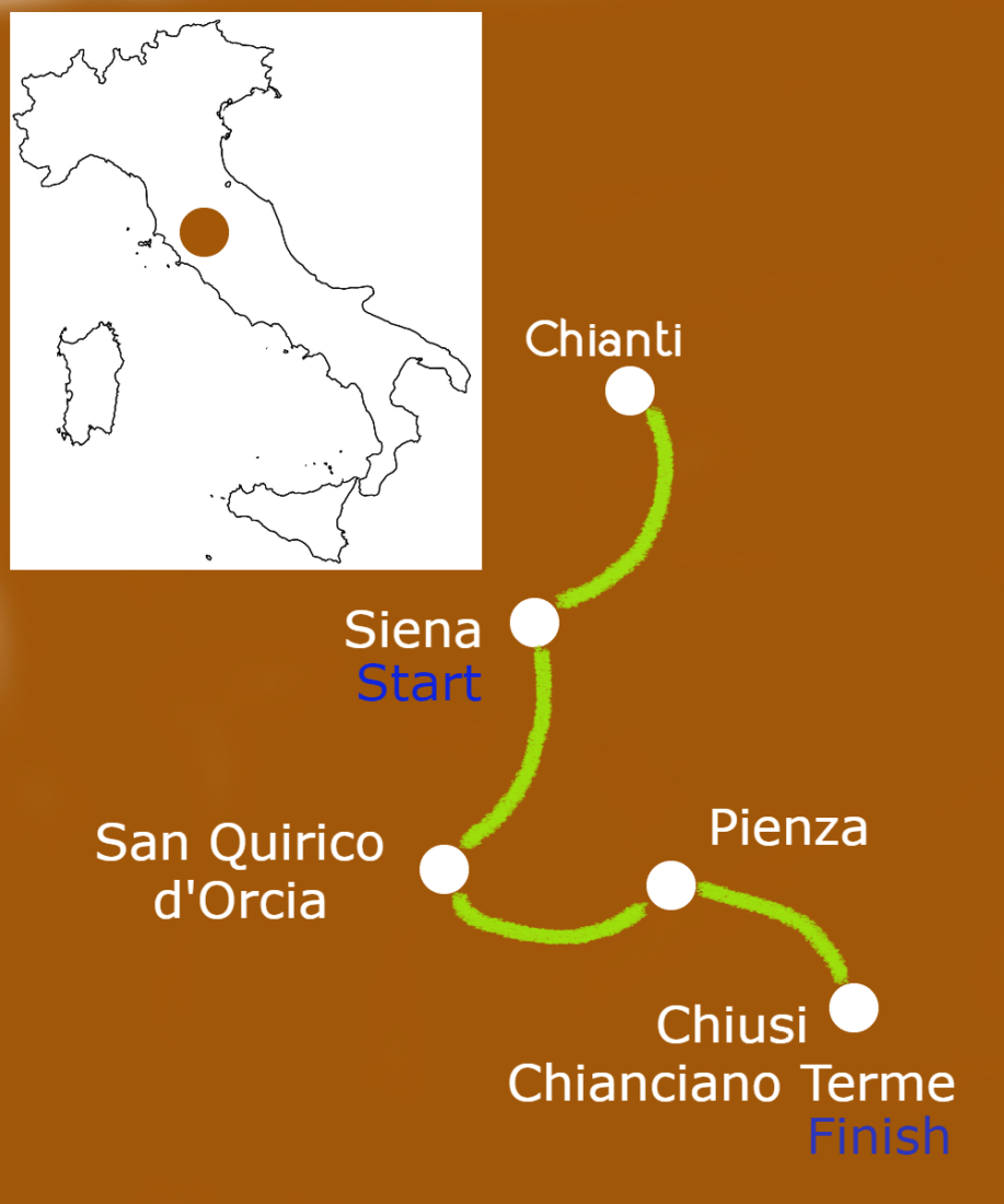 tuscan splendors getaway map