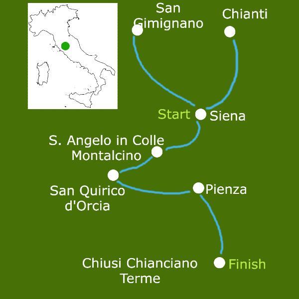 tuscany walking tour