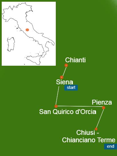 Tuscany map walking tour