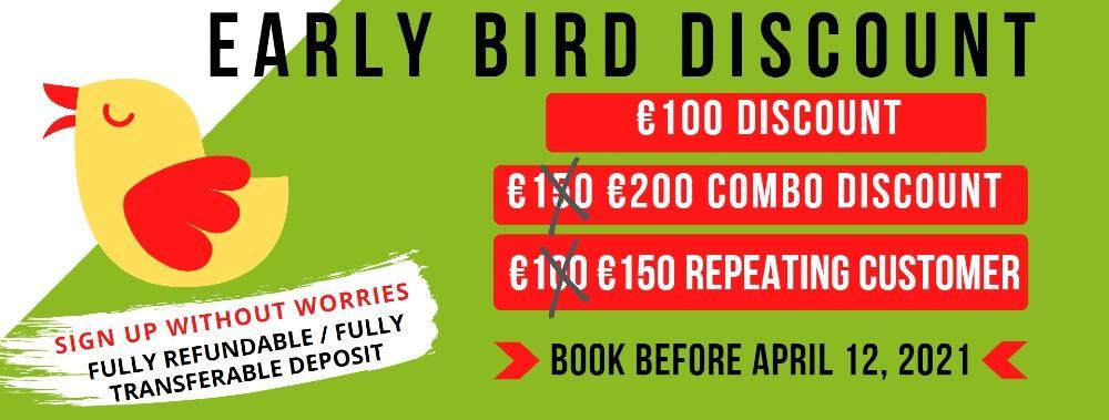 early bird discount italian tours