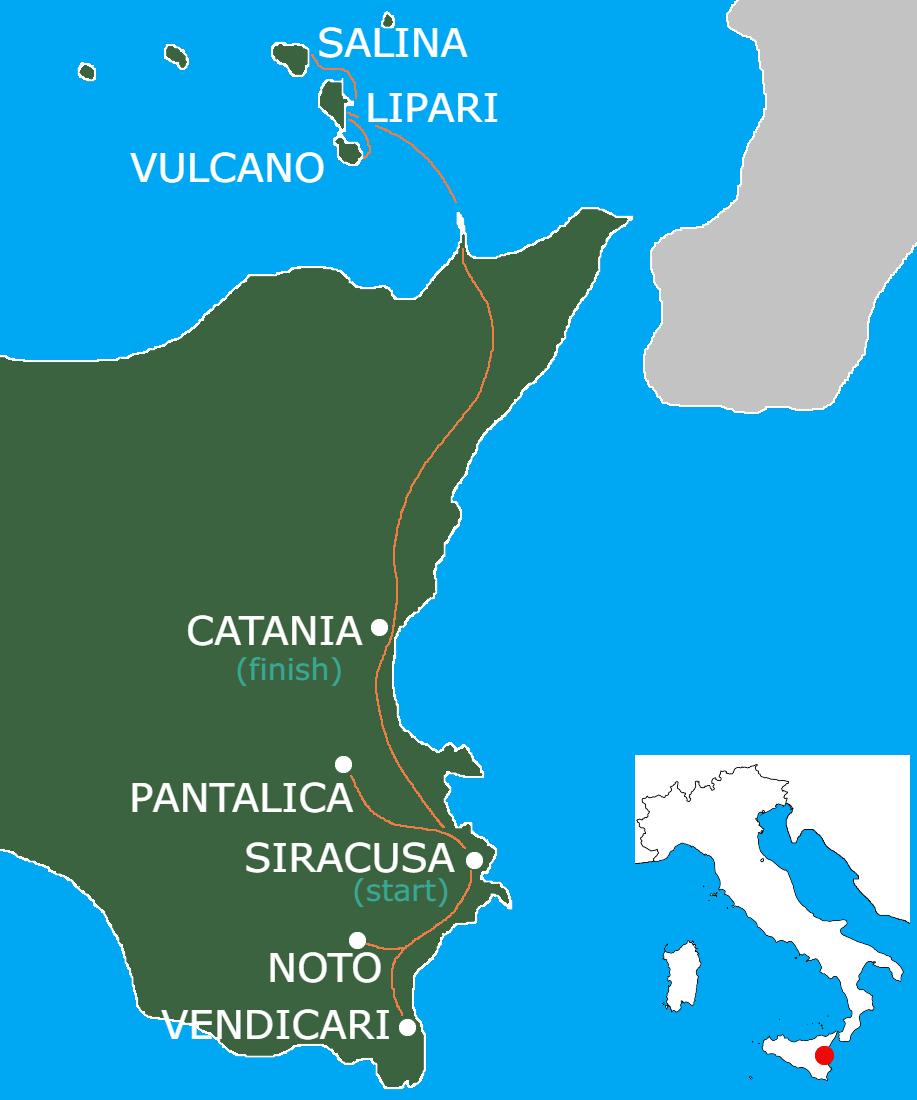 Sicilian Flavors Walking Tour Map