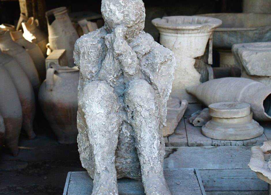 The last emotion.  The plaster casts of Pompeii.