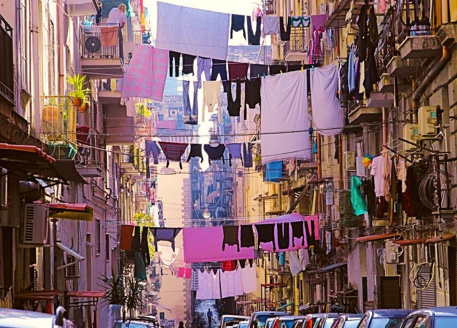 Laundry in the sun in Naples