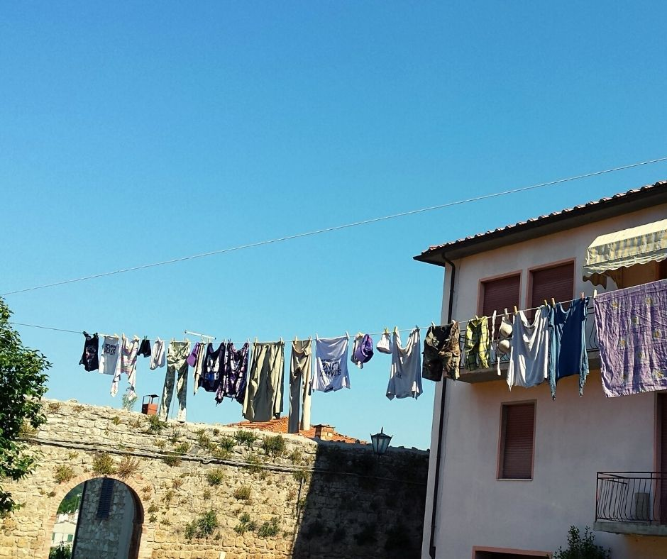 Laundry in the sun